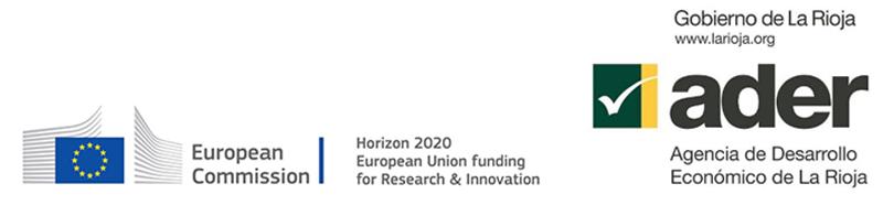 Figura 1. Logos de la Comisión Europea y la Agencia de Desarrollo Económico de La Rioja.