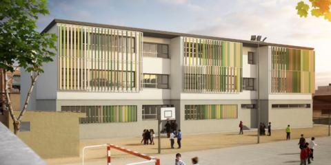 """Rehabilitación tipo EnerPhit de un colegio público """"El Garrofer"""": rústico y resistente"""