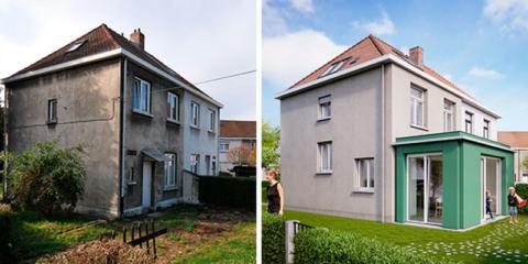 Reforma integral con presupuesto de vivienda social y resultados de edificio de energía casi nula