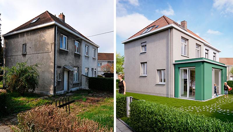 Figura 1. La vivienda Renovactive antes y después de la intervención.