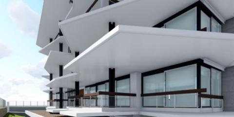 Ejemplo de edificio residencial multifamiliar sostenible, solo empleando aerotermia de última generación, compacta en climatización y dedicada para agua caliente sanitaria