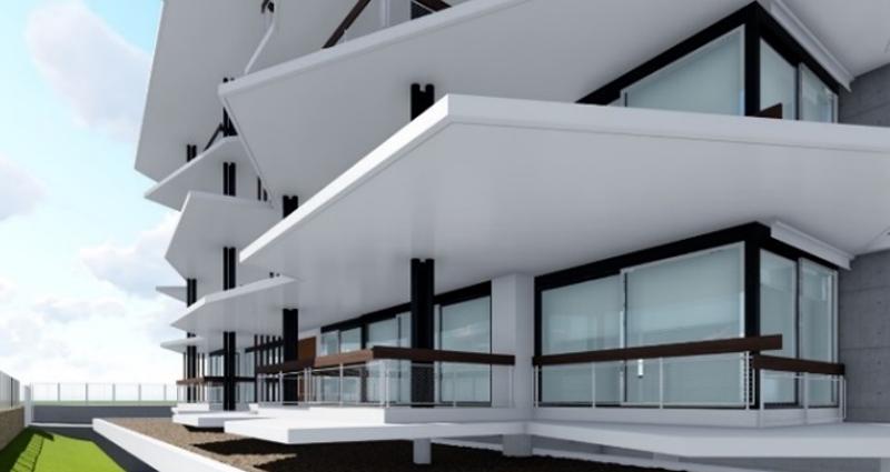Figura 2. Detalle de los aleros del Edificio Mirasierra.