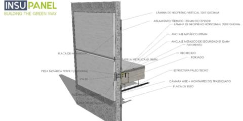 Envolvente ligera de hormigón libre de puentes térmicos
