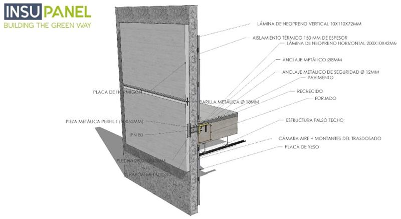 Figura 2. Detalle constructivo de placa y anclaje.