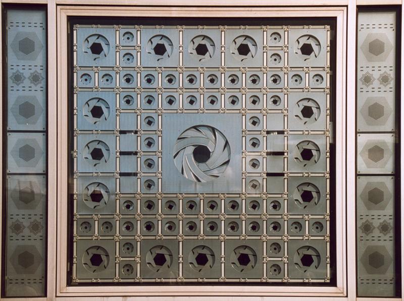 Figura 2. Fragmento de fachada del Instituto del Mundo Árabe, París.
