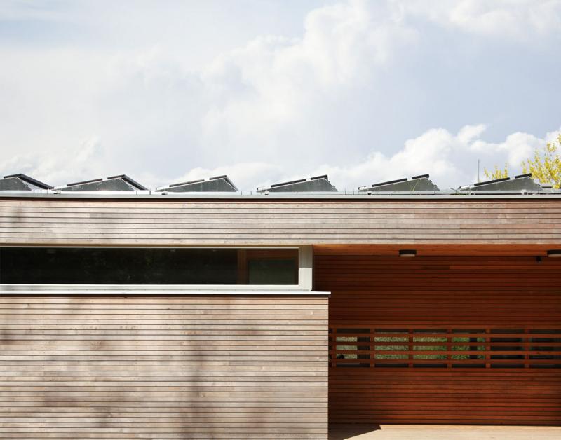 casa pasiva Lark Rise placas soalres en tejado