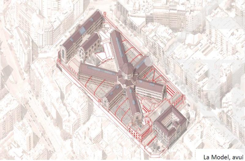 la modelo regeneración urbana barcelona plano antiguo