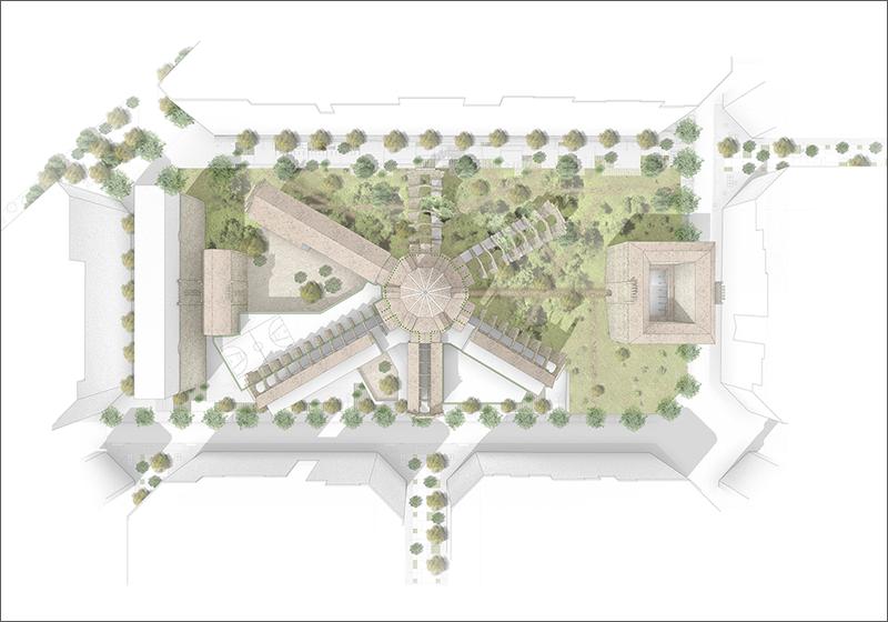 Plano del recinto de La Modelo tras las obras de regeneración.