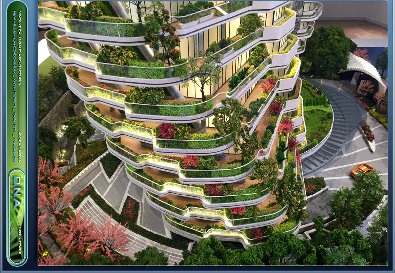 La terraza rodea todo el apartamento y en ella se plantará la vegetación que creará el jardín vertical.