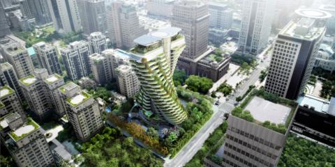 El edificio residencial 'Agora Garden' se eleva en Taiwán como un jardín vertical con forma helicoidal