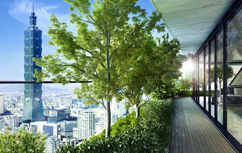 Está previsto plantar 23.000 árboles entre las terrazas y los jardines del edificio.