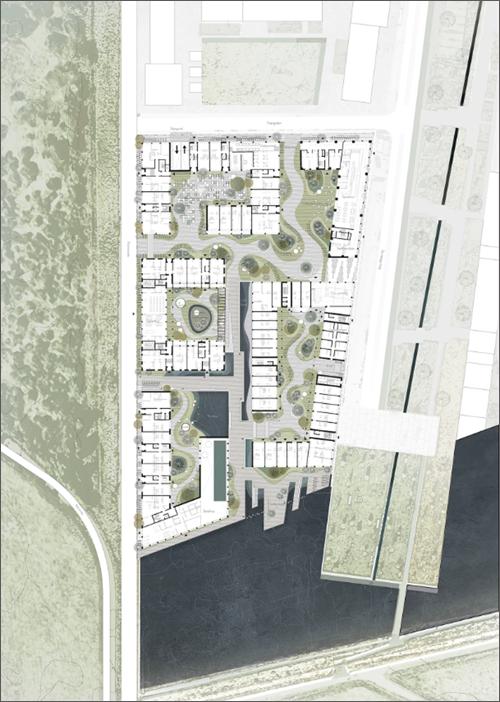 UN17 Village aldea ecológica de Copenhague plano en alza
