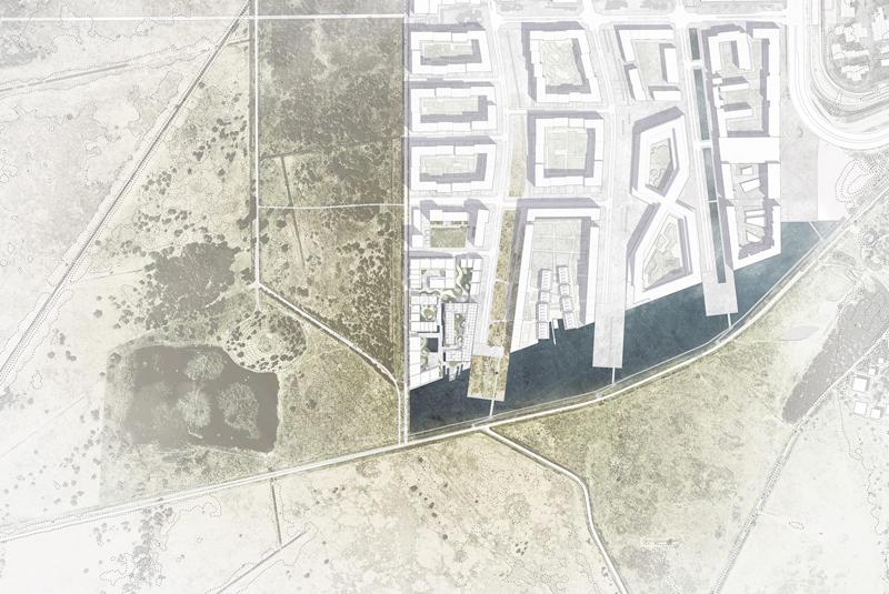 plano de UN17 Village aldea ecológica de Copenhague