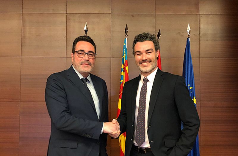 firma de acuerdo entre Vía Célere y la Universidad Politécnica de Valencia