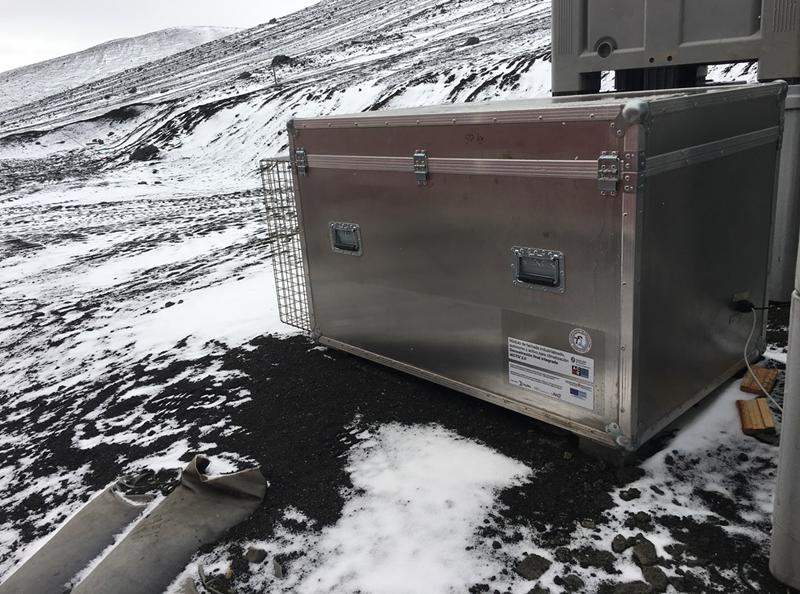 prototipo de fachada en la Antártida