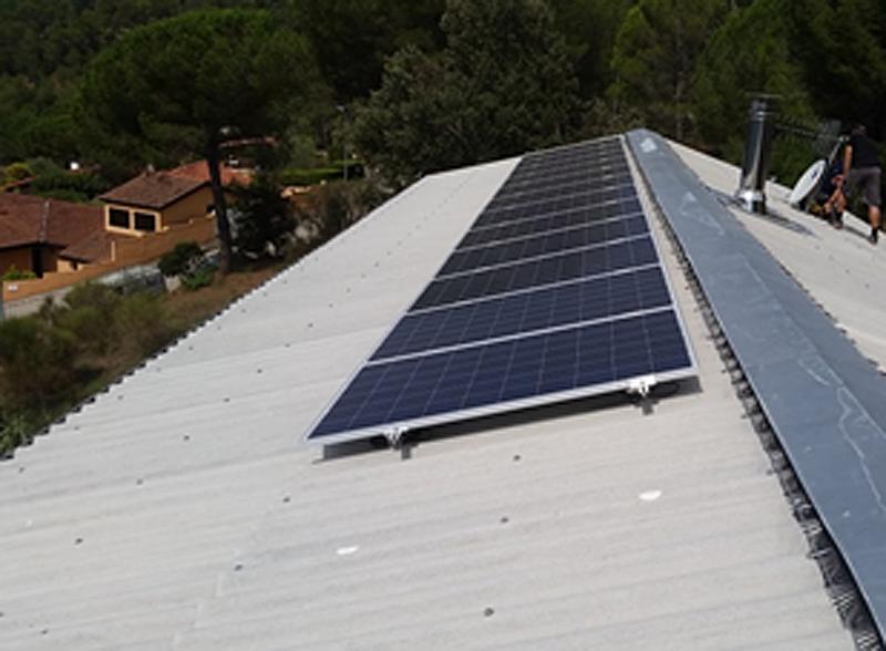 Figura 2. Vista del generador fotovoltaico de 3,18 kWp.