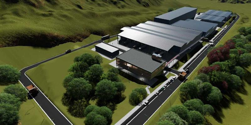 Las instalaciones se configuran en cinco naves de tratamiento de tipo industrial y cuatro edificaciones auxiliares.