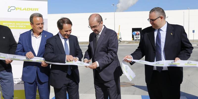 inauguración fábrica Pladur