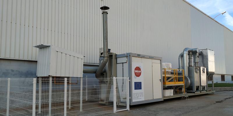 Planta piloto en la empresa Keraben Grupo ubicada en Nules (Castellón).