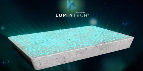 Pavimento de hormigón con tecnología fotolumínica Artevia Boreal