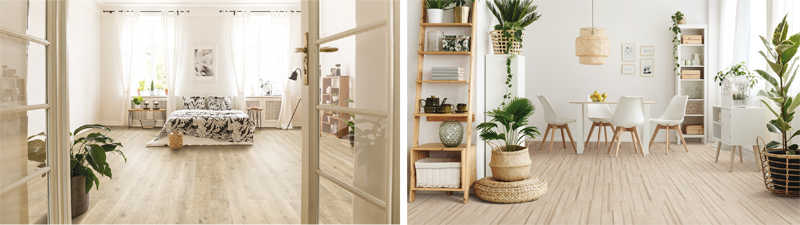 El pavimento es idóneo para suelos en interiores por su alto confort y aislamiento.
