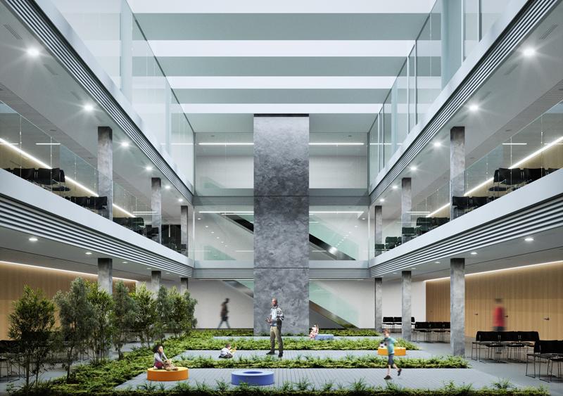 Interior del edificio, que tendrá un consumo casi nulo de energía.