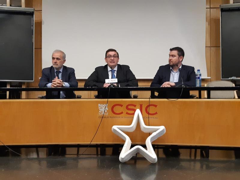 Acto de presentación del proyecto 3DCONS en el Instituto de Ciencias de la Construcción Eduardo Torroja en Madrid.