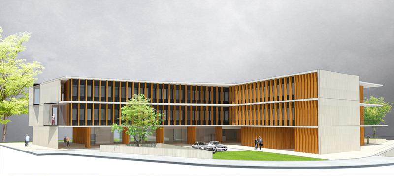 Imagen del diseño de la residencia. Imagen de Rubio Bilbao Arquitectos.