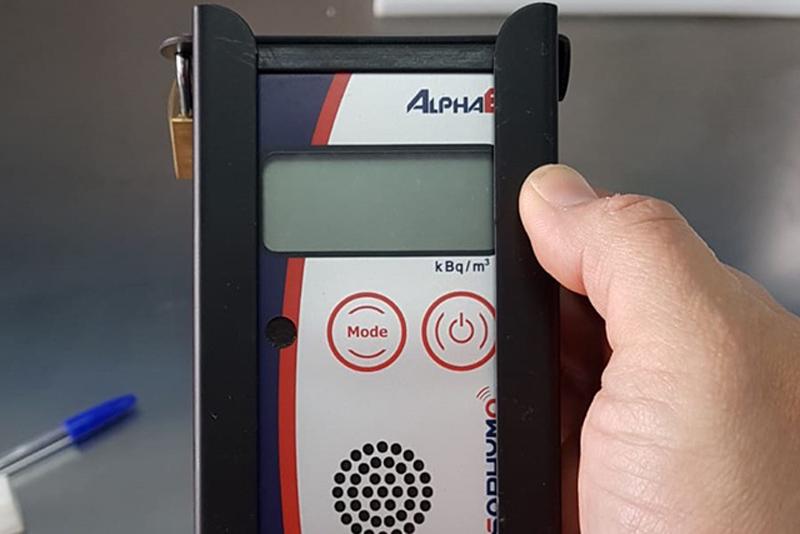 medidor de radón