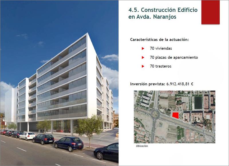El segundo edificio constará de 70 viviendas