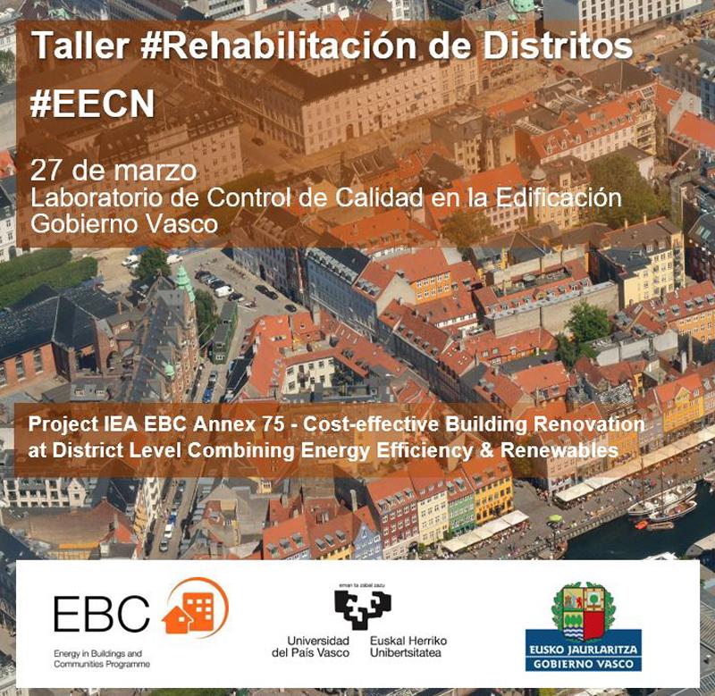 cartel Taller Rehabilitación Distritos EECN