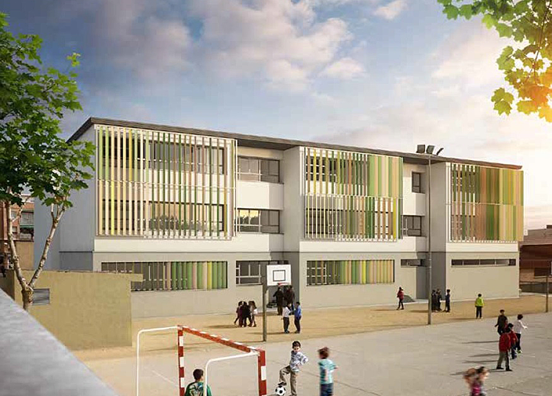 Escuela Els Garrofers de Viladecans, la primera que se rehabilitará con criterios EECN.
