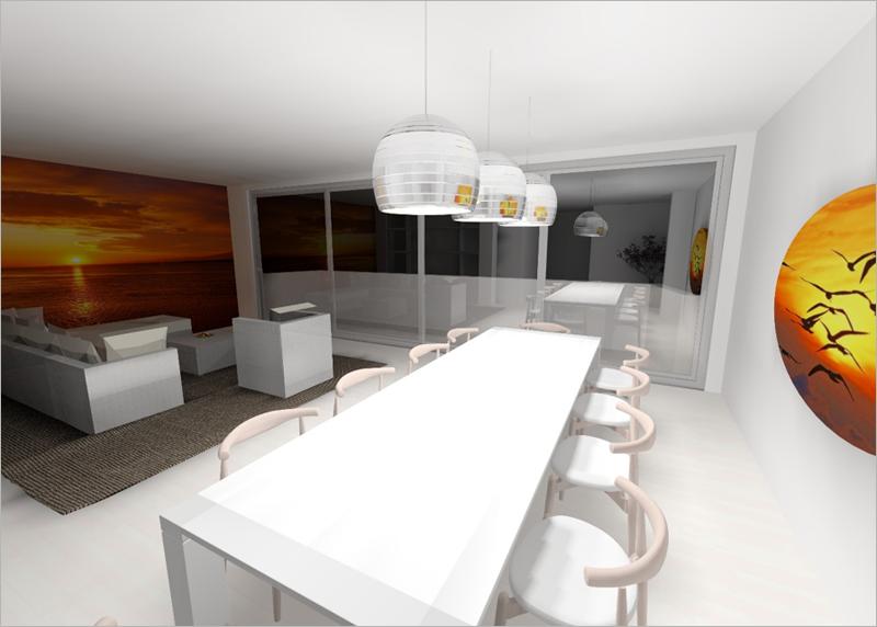 Figura 1. Imagen virtual de salón de vivienda tipo.