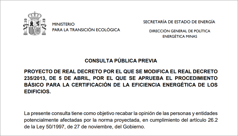 Proyecto de Real Decreto por el que se modifica el Real Decreto 235/2013