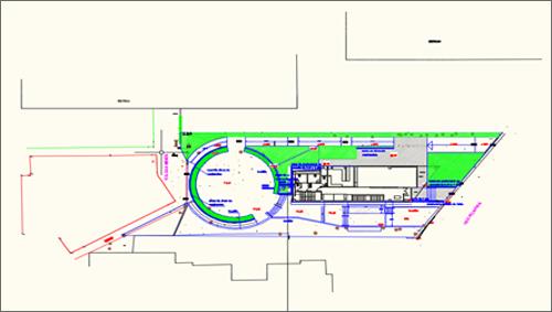 Figura 2. Implantación del edificio y parcela ajardinada.