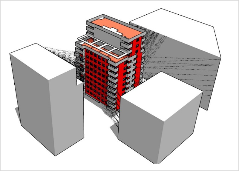 Figura 3. DesignPH edificio Adagio I y entorno.