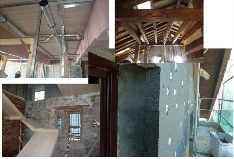 rehabilitación casa arco fachada e interior