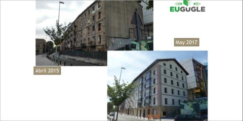 Finalizan en Sestao las cinco actuaciones de rehabilitación energética del proyecto europeo EU-GUGLE