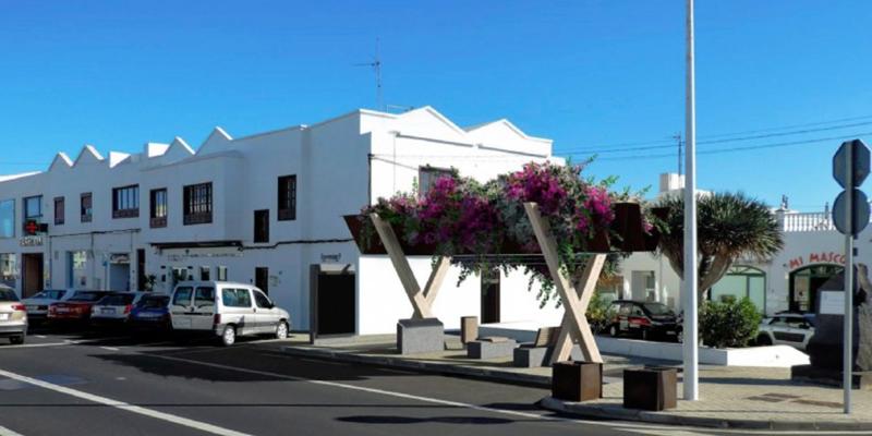 Prototipo para las paradas de taxi en Lanazarote