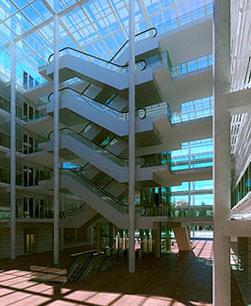 Figura 10. Atrio central.