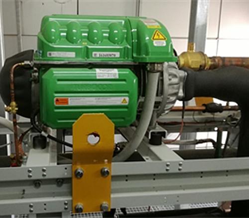 Figura 5. Compresores inverter de levitación magnética con refrigerante ecológico HFO. Fuente: TORRE RIOJA. Edificio Oficor.