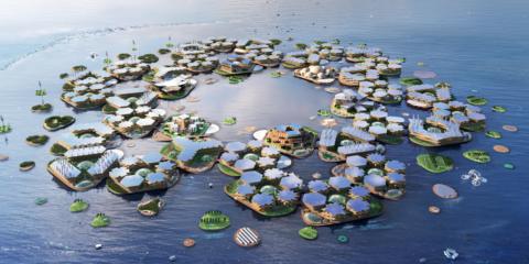 La primera ciudad flotante sostenible del mundo, Oceanix City, se presenta ante ONU-Hábitat