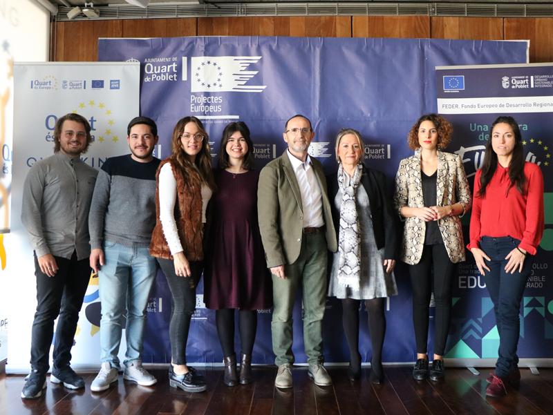 Equipo de proyectos europeos del Ayuntamiento de Quart de Poblet.