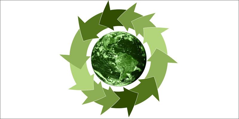 símbolo de la economía circular