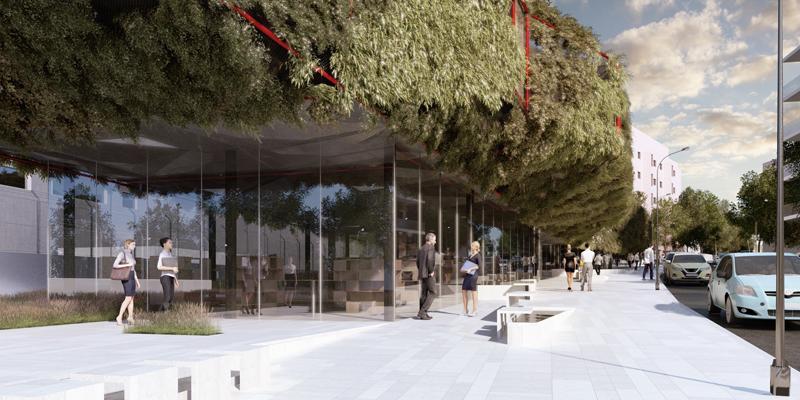 futura Biblioteca Municipal de Villaverde acceso