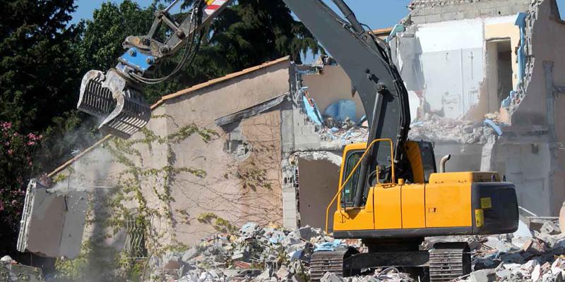 demolición de una casa