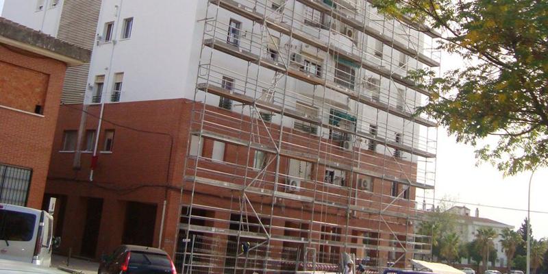 edificio en obras Andalucía