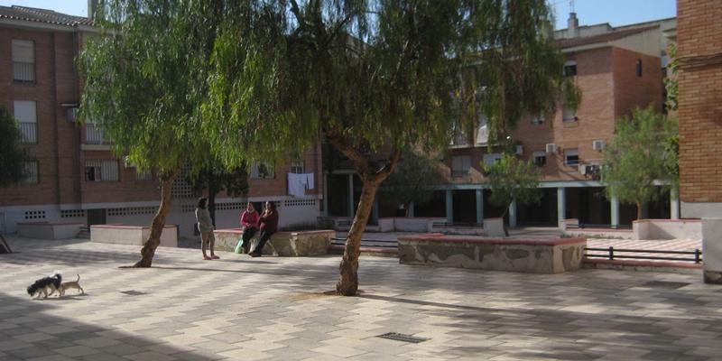 plaza barrio Rancho de Morón de la Frontera en Sevilla