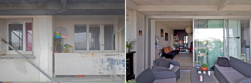 Imagen comparativa del inicio de la obra y el resultado final.