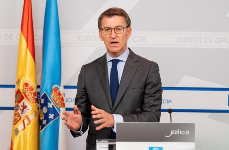 presidente del Gobierno gallego, Alberto Núñez Feijóo
